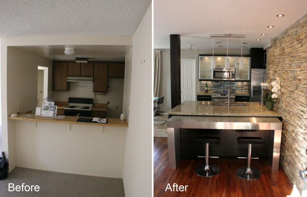 Small Kitchen Remodeling-Fort Myers Home Remodeling Team-We do kitchen & bath remodeling, home renovations, custom lighting, custom cabinet installation, cabinet refacing and refinishing, outdoor kitchens, commercial kitchen, countertops and more