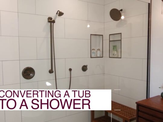 Tub to Shower Conversion-Fort Myers Home Remodeling Team-We do kitchen & bath remodeling, home renovations, custom lighting, custom cabinet installation, cabinet refacing and refinishing, outdoor kitchens, commercial kitchen, countertops and more